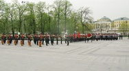 Officers of Ministry of Internal Affairs conduct the wreath-laying ceremony Stock Footage