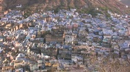 Stock Video Footage of Aerial view of beautiful Indian town in early morning