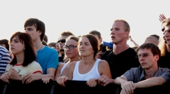 People at the concert open air edit Stock Footage