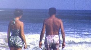 Stock Video Footage of HAPPY COUPLE SUMMER BEACH Love Vacation 1960s (Vintage Film Home Movie) 213