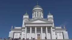 Evangelical Lutheran cathedral Helsinki, Finland Stock Footage