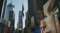 Billboard scene NY Stock Footage