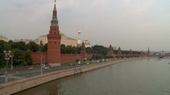 Moscow river 2 Stock Footage