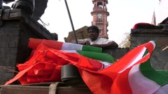 Assembling Indian flags Stock Footage
