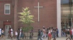 Church in black community Stock Footage
