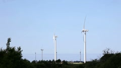 Wind turbine - renewable energy source Stock Footage