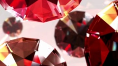 Diamonds topview loop - stock footage