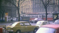 Street Scene Center MADRID Downtown Spain 1960 Vintage Film Home Movie 247 Stock Footage