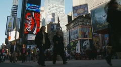 Timelapse in Times Square area Stock Footage