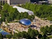 Chicago Millennium Park Plaza Time-lapse Crowds People – PAL Stock Footage