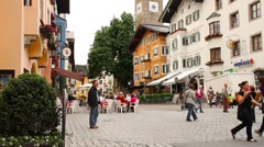 Kitzbuhel Downtown Austria 02 Stock Footage