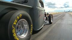 Motorsports, Drag Racing 2011 season #54, rat Rod launch Stock Footage