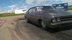 Motorsports, Drag Racing 2011 season #49, grey Chevelle burnout - stock footage