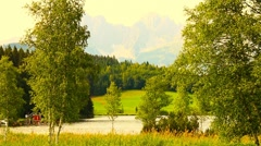 Mountains Beauty Scene 05 ARTCOLORED - stock footage