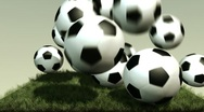 Soccer Balls (HD+Loop) Stock Footage