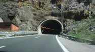 Driving Time lapse. Tunnel. Stock Footage