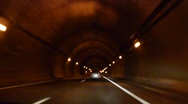 Stock Video Footage of Driving Timelapse. Tunnel.