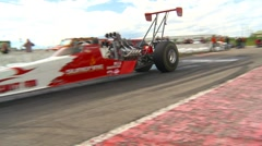 Motorsports, Drag Racing 2011 season #68, dragster burnout Stock Footage
