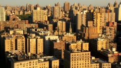 Aerial view of Midtown Manhattan and Apartments, NY, USA Stock Footage