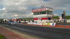 Motorsports, Drag Racing 2011 season #70, funny car and altered race - stock footage