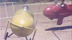 CHILDREN AIRPLANE AMUSEMENT Park Ride 1950s Vintage Film Home Movie 263 - stock footage