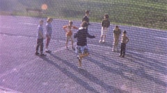 Children Playing PLAY Hopscotch GAME Recess 1960 Vintage Film 8mm Home Movie 260 Stock Footage