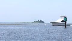 Boats Returning To Harbor Stock Footage
