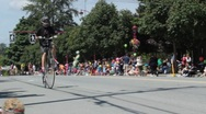 Stock Video Footage of Bicycle big wheel retro at parade 2