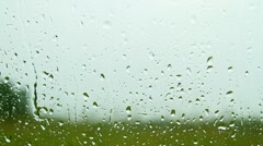 rain drops on glass - stock footage