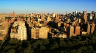 Stock Video Footage of Aerial view of Midtown Manhattan and Apartments, NY, USA