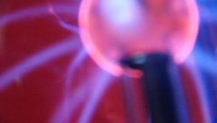 Closeup HOT Plasma Ball Lightning effect Stock Footage