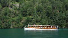 Electric boat on konigssee, Germany Stock Footage
