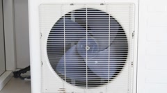 Air conditioning system closeup Stock Footage
