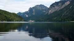 Alpsee, panoramic view Stock Footage