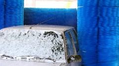 Car Wash Machine Stock Footage
