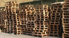 Wooden pallets Stock Footage