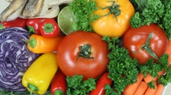 Healthy Food Choices Close Up Stock Footage