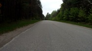 Forest road - turn Stock Footage