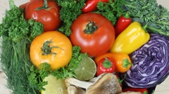 Healthy Ingredients Close Up Stock Footage