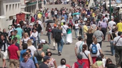Crowd slow movement P HD 9545 Stock Footage