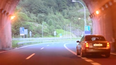Driving Timelapse. Long tunnel. - stock footage