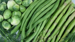 Vegetable Greens Rotate Close Up Stock Footage