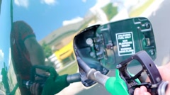Car Refuelling Stock Footage
