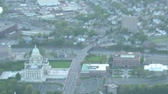 Aerial view of State Capitol Building Stock Footage