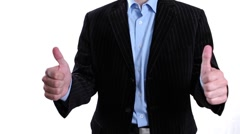 Happy Businessman gesturing success Stock Footage