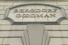 Bergdorf Goodman store close up on name Stock Footage