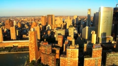 Aerial view of Manhattans Iconic Skyscrapers, New York City, USA Stock Footage