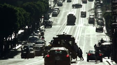 San Francisco silhouetted traffic Stock Footage