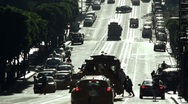 Stock Video Footage of San Francisco silhouetted traffic