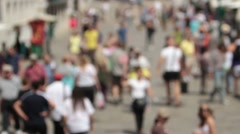 Stock Video Footage of Crowd of people blur out of focus P HD 9543